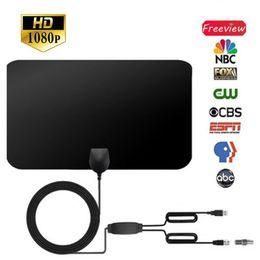 Amplitude de 80 Milhas Amplificada HDTV Antena Com Amplificador de Sinal Destacável 4 M Cabo Coaxial 1080 P Antenas de TV Digital venda por atacado