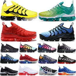 $enCountryForm.capitalKeyWord NZ - Top Fashion Tn Plus Rainbow Running Shoes mens Bumblebee Be True Grape Triple Black Womens Sherbet Team Red Black Designer Sneakers US 5-11