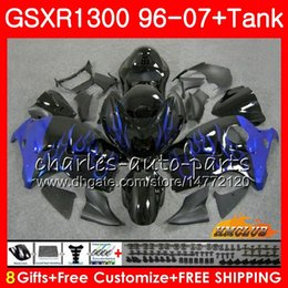 $enCountryForm.capitalKeyWord Australia - Body For SUZUKI Hayabusa GSXR 1300 GSXR1300 96 97 98 99 00 01 07 blue flames 24HC.91 GSX R1300 1996 1997 1998 1999 2000 2001 2007 Fairing