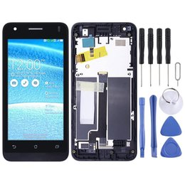 asus zenfone c Canada - LCD Screen and Digitizer Full Assembly with Frame for Asus Zenfone C ZC451CG Z007