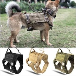 $enCountryForm.capitalKeyWord Canada - Sales!!! Wholesales Free shipping Police K9 Tactical Training Dog Harness Military Adjustable Molle Nylon Vest