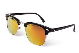 Pc 13 Australia - 13 color Half Metal High Quality Sunglasses Men Women Brand Designer Glasses Mirror Sun Glasses Fashion Gafas Oculos De Sol Uv400 Classic
