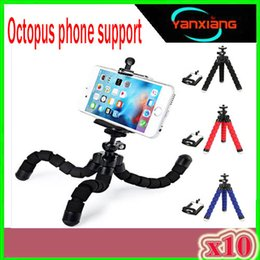 Wholesale Car style mobile phone holder flexible octopus tripod bracket selfie stand mount manfrotto support For iPhone XIAOMI camera ZY ZJ