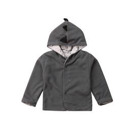Boys Dinosaur Jacket Australia - FOCUSNORM Newborn Toddler Baby Girl Boy Dinosaur Hooded Long Sleeves Coat Jacket Tops Baby Warm Outfit Clothes