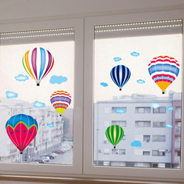 hot air balloon wall UK - Beautiful Hot Air Balloon PVC Wall Sticker