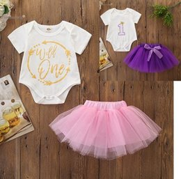$enCountryForm.capitalKeyWord Australia - 2019 summer newborn baby girl clothes toddler white rompers tulle tutus skirts two pieces sets infant outfits boutique little girls clothing