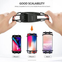 Wholesale Universal Adjustable Bicycle Phone Holder For iPhone Samsung Mobile Cell Phone Holder Bike Handlebar Clip Stand GPS Mount Bracket