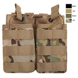 Molle Mag bag online shopping - Airsoft Gear Molle Bag Vest Camouflage FAST Cartridges Clip Ammunition Carrier Ammo Holder Tactical Mag G36 Double Magazine Pouch NO11