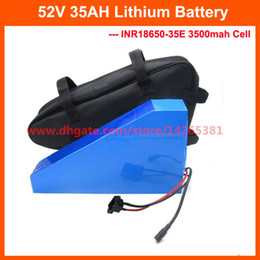 $enCountryForm.capitalKeyWord Australia - 51.8V 35AH triangle battery 52V lithium ion ebike battery pack with free bag use INR18650-35E 3500mah cell 50A BMS With 58.8V 4A Charger
