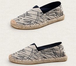 Spring Fall Canvas Shoes Australia - Wholesale straw hemp bottom shoes spring summer new lovers breathable canvas shoes lazy fisherman hemp rope shoes a906