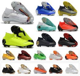 boys cristiano ronaldo shoes 2019 - Hot Mercurial Superfly VI 360 Elite FG LVL UP KJ 6 CR7 Cristiano Ronaldo Mens Women Boys Soccer Football Shoes Boots Siz
