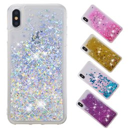 $enCountryForm.capitalKeyWord NZ - Soft Fashion Quicksand Liquid Glitter Silicone Bling Phone Case for iPhone xs max xr x xs 4 4s 5 5s se 6 6s 7 8 Clear Colors 06