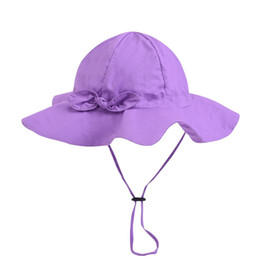 $enCountryForm.capitalKeyWord UK - Summer For Toddler Baby Girls Sun Hat Outdoor Travel Beach Wide Brim Bucket Cap