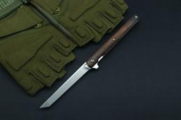 Folding Pens Australia - Small pen flip knife folding ball bearing M390 blade American sand iron handle outdoor camping multi-purpose hunt EDC tool