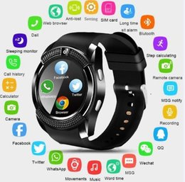 card track UK - V8 Smart Bracelets Smart Wristband Smart Bracelet SIM card Telephone Sleep Tracking Fitness Tracker Intelligent Watch 5 Colors