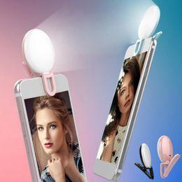 Lighting Cameras Australia - Portable Selfie Flash Led Camera Clip-on Mobile phone Selfie ring light video light Night Enhancing Fill Light
