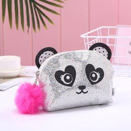 panda makeup Australia - Cute cartoon series big-eyed panda national treasure makeup bag bag hair ball new launch