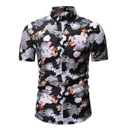 2ecef5db Mens Shirts 2019 High Quality Fashion Men Short Sleeve Hawaiian Shirt  Autumn Casual Floral Shirts For Men Asian Size Xxxl