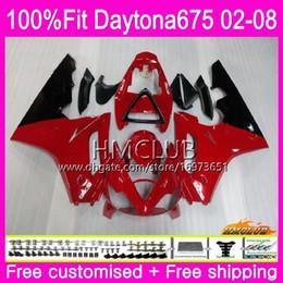 $enCountryForm.capitalKeyWord Australia - Injection Body For Triumph Daytona 675 02 03 04 05 06 07 08 Top Red Glossy 43HM.11 Daytona675 2002 2003 2004 2005 2006 2007 2008 OEM Fairing