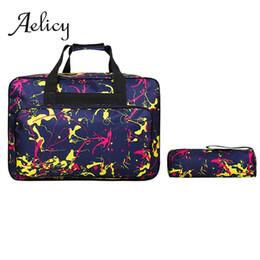 Discount large gold handbags - Aelicy 2pcs Fashion Print Travel Handbag Men Colorful Pattern Zipper Travel Tote Women Large Capacity Nylon Waterproof H