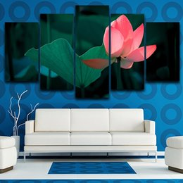 $enCountryForm.capitalKeyWord Australia - Beautiful Lotus Flowers Canvas Painting 5 Panel No Frame Home Decoration Print Poster Picture Pop Gift
