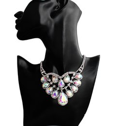$enCountryForm.capitalKeyWord UK - Crystal wedding jewelry charm women's dress accessories colorful rhinestone necklace classic gift silver color 2019 new