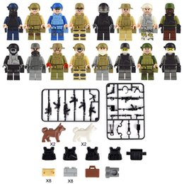 air block Australia - 16pcs Lot United States Navy Sea Air and Land Special Force Navy Seals Military Figure with Weapon Building Block Brick Toy for Boy