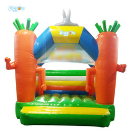 kids inflatable bounce house NZ - Chinese Factory Carrot Shape Mini Trampoline Inflatable Bounce House Bouncy Castle For Kids Indoor Outdoor Game