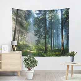 Hippie art online shopping - Beautiful Natural Forest Printed Large Wall Tapestry Cheap Hippie Wall Hanging Bohemian Wall Tapestries Mandala Art Decor