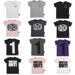 Skull T Shirt Baby Australia - Kids T Shirts 2019 Nunu Summer Boys Girls Number 1 Skull Print Short Sleeve T Shirts Baby Child Cotton Tops Tees Clothes Y190516