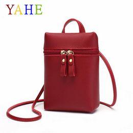 $enCountryForm.capitalKeyWord Australia - YaHe Mini Shoulder Bag Women PU Leather Coin Phone Wallet Small Ladies Messenger Bag Black Pouch For Girls Kids Children
