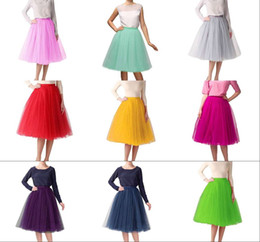 $enCountryForm.capitalKeyWord Australia - Classical Women's Short A line Skirts Elastic Tulle Costume Dance Tutu Puffy Tea Length Party Dresses Hot Sale Under 30$ Prom Occasion Wear