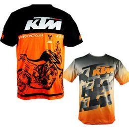 2017 hombres calientes de la venta KTM ocasional de la motocicleta camiseta Jersey manga corta aerolínea Jersey Motocross DH Downhill MX MTB transpirable Off-Road