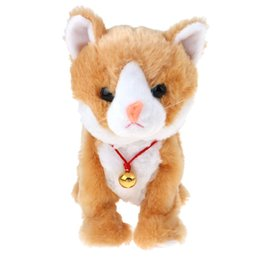 dolls house animals Australia - Electronic Plush Cat Meow Doll Simulation Toy House Decoration Educational Toys Birthday Gift for Children Kids Toddler