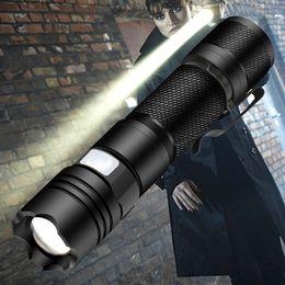 $enCountryForm.capitalKeyWord Australia - BRELONG 10w 800lm Mini Portable 5 Mode LED Flashlight Flashlight Adjustable Focus Zoom Light Bulb Black