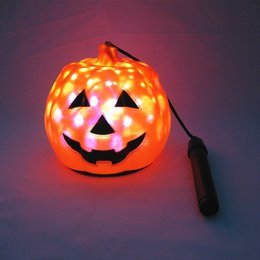 Discount festival light toys - Halloween Pumpkin Night Light Portable Lantern Children's Toys LED Lighting Festival Decorative Lights Colorful Amb