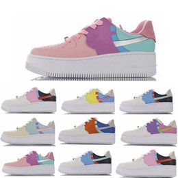 candies shoes for women NZ - With Box WMNS Forced Sage Low LX Light Aqua Running Shoes For Women 1 Candy Macaron Shadow Platinum Tint Dunk one Girls Sport Sneakers