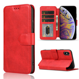 iphone matte wallet case UK - For iphone XR XS X 8 Plus Luxury Leather Wallet Flip Phone Case TPU Matte Cover With Card Slots Photo Frame Phone Holder