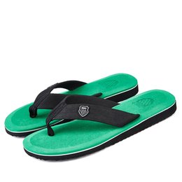 green gingham 2019 - Big Sale Summer Men Flip Flops High Quality Beach Sandals Anti-slip Zapatos Hombre Fashion Breathable Mens Slippers Casu