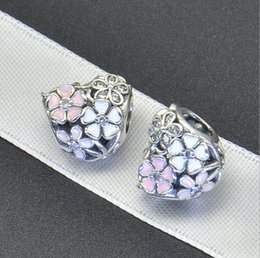$enCountryForm.capitalKeyWord NZ - Factory Direct Europe Spring New Paint Flowers Heart -Shaped Pan -Do -Ra Beads 925 Sterling Silver Jewelry Accessories
