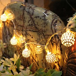 Outdoor Christmas Ornament Balls Australia - 20 LED Ball Metal Fairy String Light Christmas Decoration For Home Wedding Party Supplies Garland Outdoor Bedroom Decor
