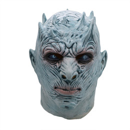 latex movies 2020 - Halloween Horror Mask Party Mask Latex Night King Mask Movie Game Cosplay Adult Full Face hemlmet Scary props HH9-2451 c