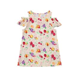 China Baby Infant Girls Dress Summer Newborn Short Sleeve Sundress Clothing Fashion fresh kids print flower dress Summer cool autumn supplier baby girl cool clothes suppliers