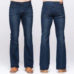 $enCountryForm.capitalKeyWord NZ - GRG Mens Slim Boot Cut Jeans Classic Stretch Denim Slightly Flare Deep Blue Jeans Fashion Stretch Trousers