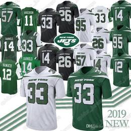 Footballs Free shipping online shopping - 33 Jamal Adams C J Mosley Le Veon Bell Sam Darnold Jersey Joe Namath Black Green White jerseys