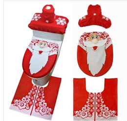 Toilet Gifts Australia - Free Shipping 2018 Christmas New Fashion Decoration Christmas Snowman Lid Single Toilet Cover For Christmas Gift