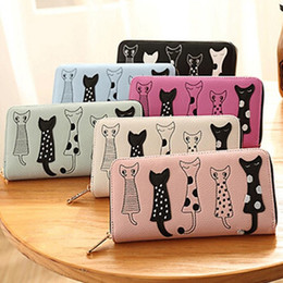 $enCountryForm.capitalKeyWord Australia - Women's Fashion Cute Cat Wallets 2019 New Ladies Girls Bifold Long Zipper Wallets Coin Purses