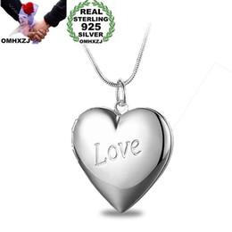 $enCountryForm.capitalKeyWord Australia - OMHXZJ Wholesale Personality Fashion Woman Girl Party Gift Silver Heart Love 925 Sterling Silver Charm Pendant Necklace CH64