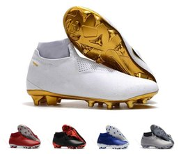 1709b38fd0fe23 New Designer Mens Soccer Cleats Phantom Vision Elite DF Soccer Shoes  Phantom VSN Academy FG AG Men Football Boots Scarpe Calcio