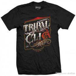 Neck Gear Australia - Casual T Shirt Male Pattern TRIBAL GEAR Original FLAKS X MAKRA T-Shirt Tee schwarz black O-Neck Short-Sleeve T Shirts